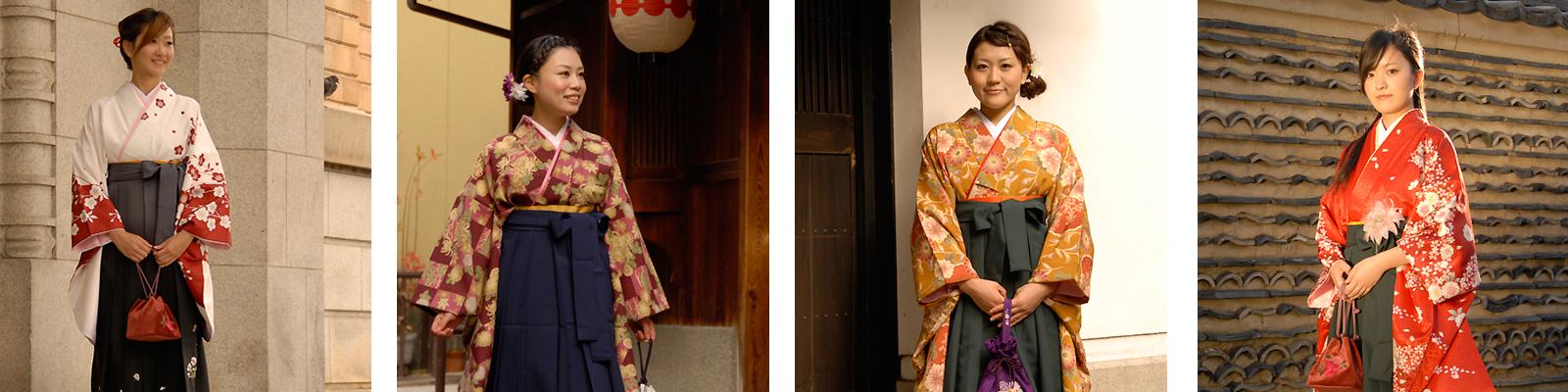 京都着物レンタル古典柄にこだわった袴ラインナップ