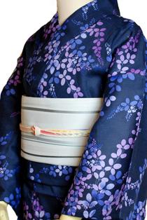 麻混上質浴衣レンタル「萩」