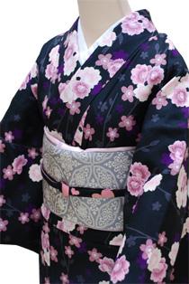 単衣レンタル着物「小桜尽くし」
