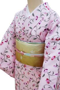 単衣レンタル着物「春の小花」