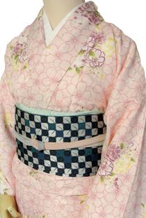 単衣レンタル着物「桜遊び」