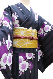 レンタル着物「桜紫」