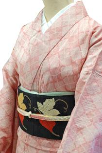 木綿のレンタル着物「菱格子」