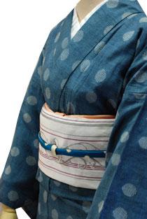 木綿のレンタル着物「水玉柄」