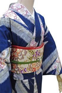 レンタル着物「ちぎり絵桜」