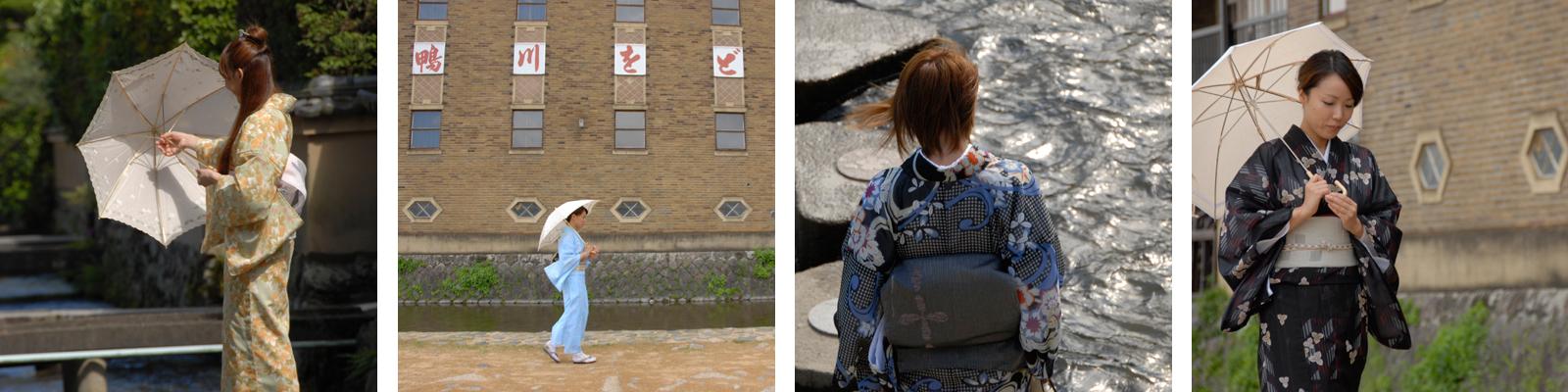 夏のレンタル着物が似合う素敵な京都の風景