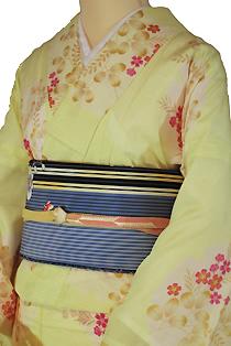 絽のレンタル着物「萩に小花」