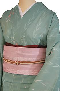 紗のレンタル着物「柳小花」