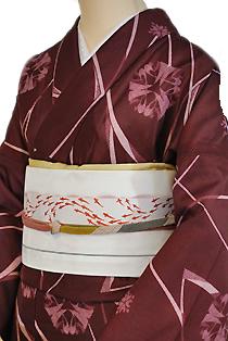 紗のレンタル着物「華紋柄」