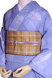 紗のレンタル着物「流水」