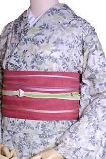 紗のレンタル着物「萩の花」