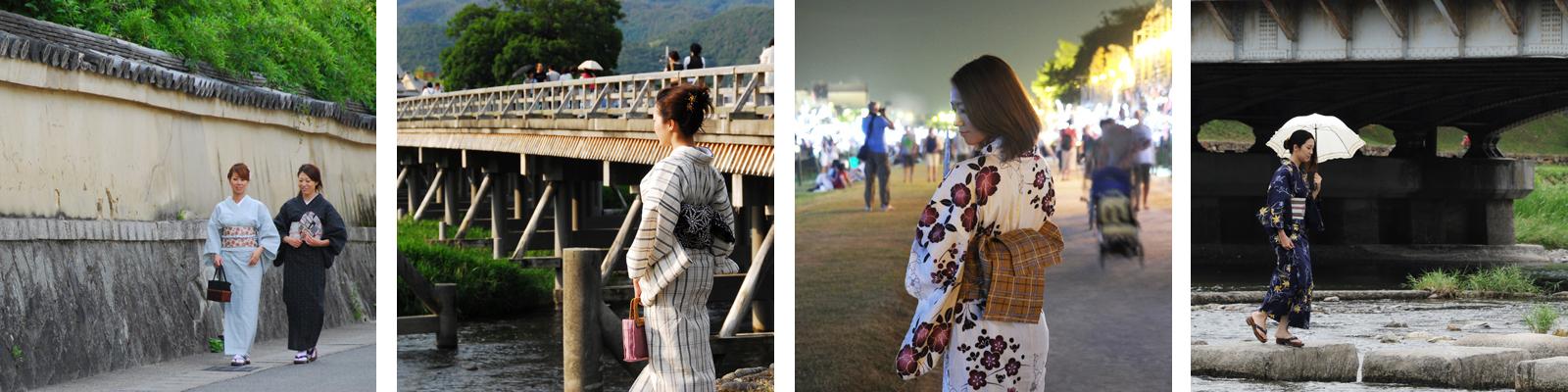 京都の夏のオトナの浴衣レンタル