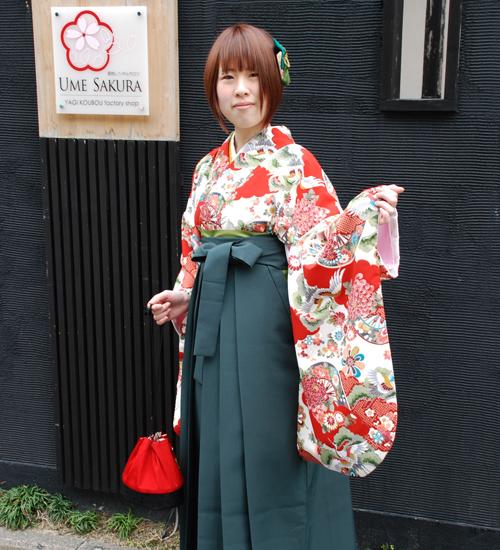 古典柄の袴レンタル