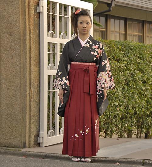 黒地に小桜袴レンタル