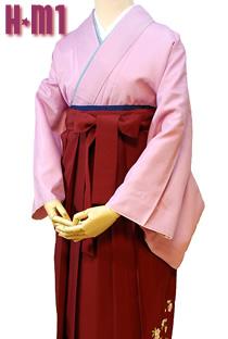 教職員の卒業式に色無地袴ピンク