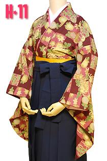 卒業式袴レトロ格子