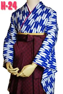 卒業式袴紫花柄