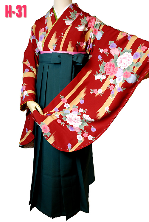 卒業式袴赤色