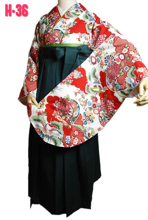 鶴柄古典袴レンタル