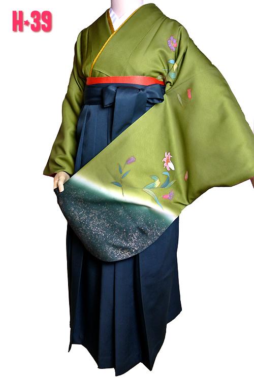 緑色の袴レンタル