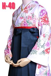 卒業式袴紅白鶴