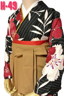 桜柄の袴レンタルH-49