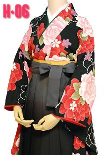 卒業式袴レトロ花柄